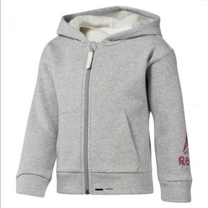 Reebok Girls Fleece Full Zip Hoodie Sweater 5-6Y